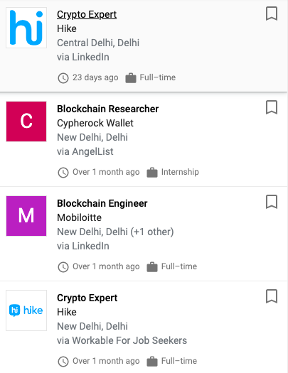 Blockchain Jobs in India